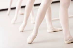 Ballerinas' Legs in a Row