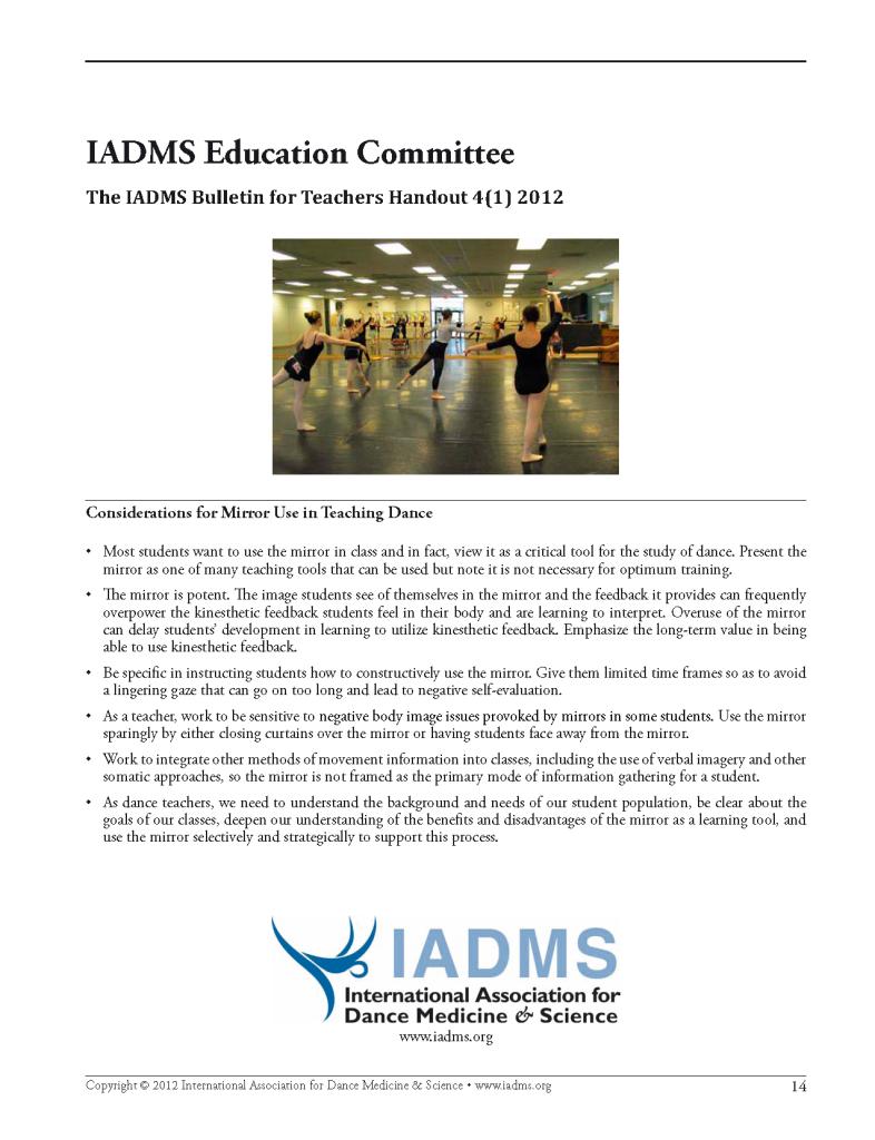 IADMS handout - Mirrors