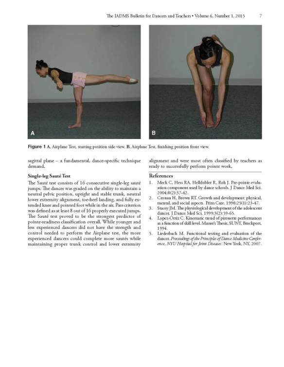 Functional Criteria for Assessing Pointe Readiness - page 2