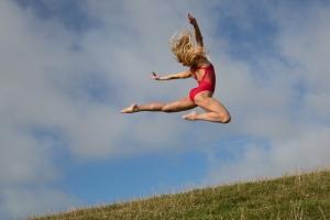 Dancing jumping